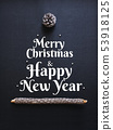 Merry Christmas Happy new year Holiday Card  53918125