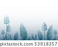 blue leaf cartoon design background  53918357