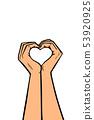heart love hands gesture 53920925