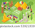 Travel Tourism Isometric Flowchart 53921939