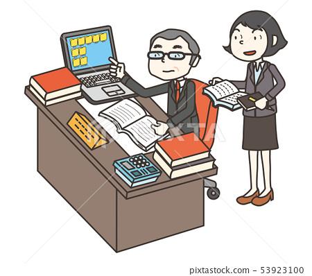 사장과 비서 boss and secretary 53923100