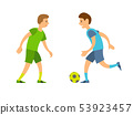Boys Playing Football, People Running with Ball 53923457