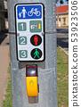 Signal machine at the pedestrian crossing 53923506
