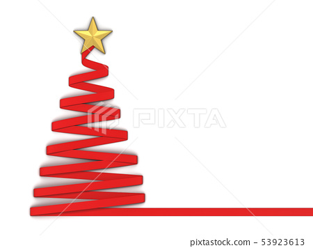Paper style christmas tree with a star 53923613