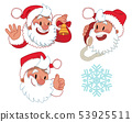 Three expressions of Santa Claus character 53925511