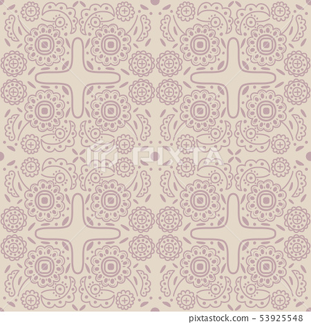 Old-fashioned outline pattern 53925548