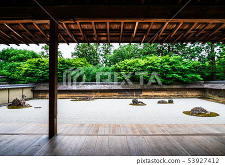 Kyoto Ryoanji Stone garden panoramic view 53927412
