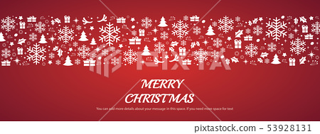 Christmas greeting card with space pattern 53928131