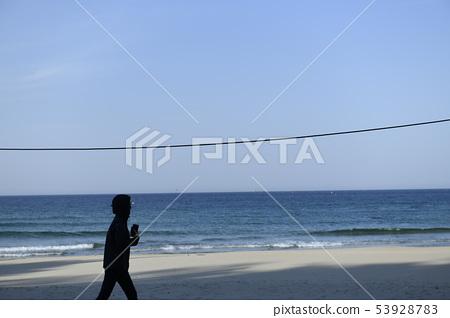 海灘散步 53928783