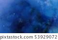 3D Nebula dark blue clouds in the deep space 53929072