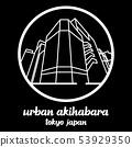 Circle icon line urban Akihabara. vector EPS10 53929350