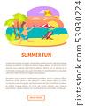 Summer Fun Boy Running at Coastline with Wind Kite 53930224
