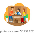 Hotel Reception Receptionists Checking In Tourists 53930327