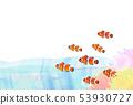 Tropical fish clown fish 53930727