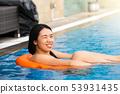 woman, pool, swimming 53931435