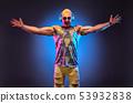 Fashion Muscular DJ. Music nightclub party concept 53932838