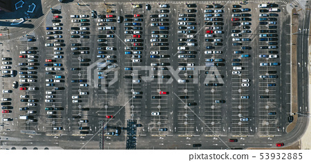 Parking lot from above 53932885