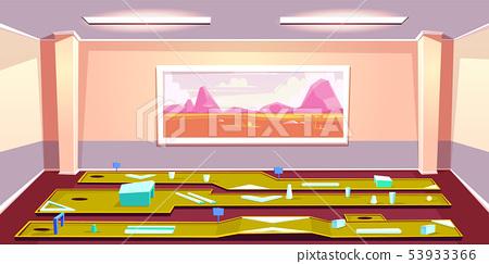 Indoors mini golf club interior cartoon 53933366