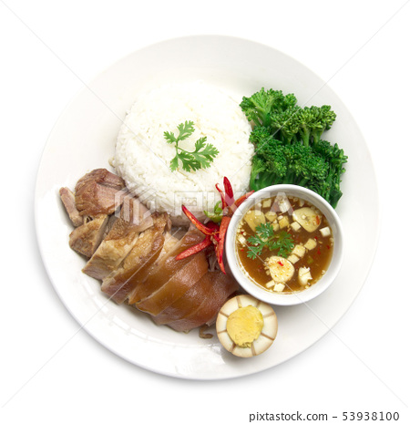 Stewed pork leg without rice and egg in Brown 53938100