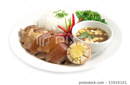 Stewed pork leg without rice and egg in Brown 53938101