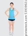 \beautiful portrait asian woman wear sport clothes 53939021