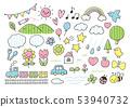 유치원 귀여운 선화 화려한 53940732