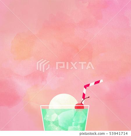 배경 - 여름 - 크림 소다 - 핑크 53941714