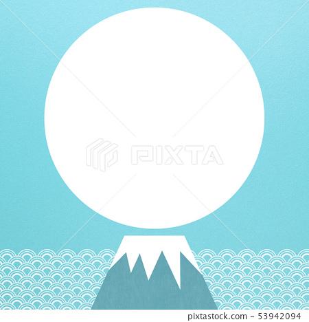 배경 - 일본 - 일본식 - 일본식 디자인 - 종이 - 여름 - 하늘색 - 파 - 후지산 53942094