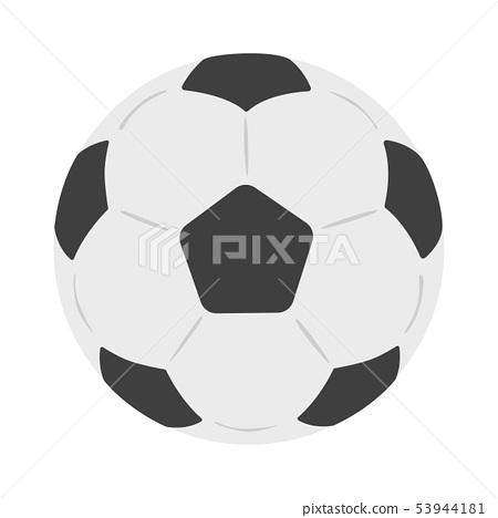 축구 공의 일러스트. 구기의 하나 인 축구로 사용 공. 53944181