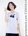 Portrait of Lovely Asian girl in school uniform 53944914
