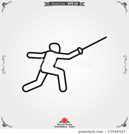 Athlete icon isolated on background vector 53946567