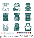 Backpack icon logo, illustration, vector sign 53948855