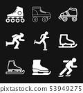 Skating icon vector sign symbol for design 53949275