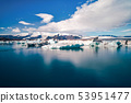The scenery of beautiful blue sky and Glacier. 53951477
