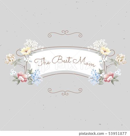 優雅的水彩花設計和中國風設計 53951877