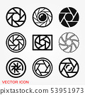 Camera objective icon vector sign symbol for 53951973