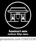 Circle icon line Kaminari mon. vector illustration 53955339