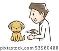 개에게 주사하는 남성 의사 53960488