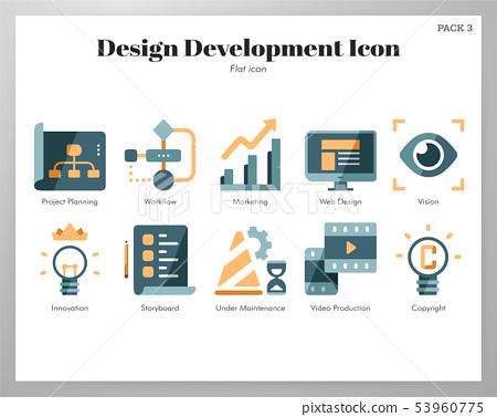 Design development icons flat pack 53960775