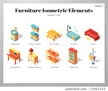 Furniture elements Isometric pack 53961459