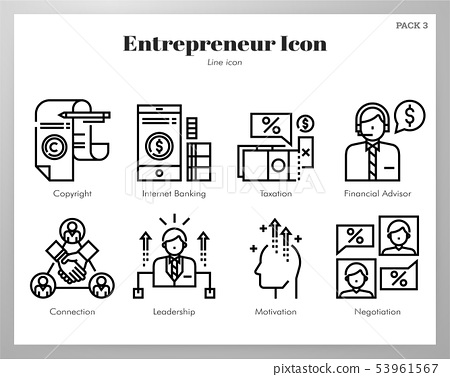 Entrepreneur icons Line pack 53961567