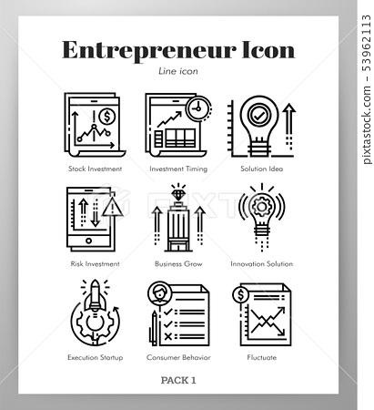 Entrepreneur icons Line pack 53962113