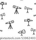 Telescope Icon Vector Seamless Pattern 53962403