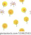 Dandelion, Spring Flower Vector Seamless Pattern 53962563