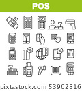POS Terminal, Mobile Payment Vector Linear Icons Set 53962816