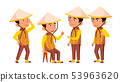 Group Of Character Vietnamese Children Vector 53963620