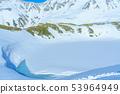 融化的雪池 53964949