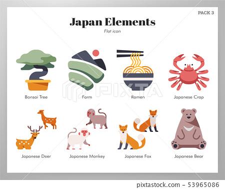 Japan elements flat pack 53965086