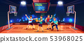 background with people playing basketball 53968025