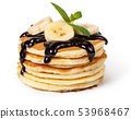 Pancakes with fresh berry 53968467